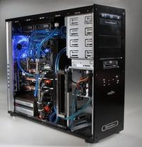 В этой модели Meijin Liquid Edition также используется процессор Intel Core 2 Extreme, разогнанный с 3,2 до 4,2 ГГц. Ее основные отличия от старшей модели семейства: один блок питания мощностью 1500 Вт, память DDR3-1600, видеоадаптеры на основе GeForce GTX 260 и звуковая карта Sound Blaster X-Fi Xtreme Gamer