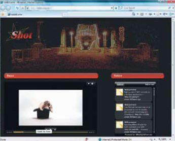 Результат создания веб-страницы с помощью Expression Design + Expression Web