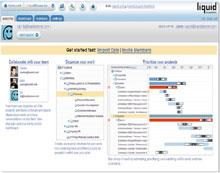 Сервис LiquidPlanner поддерживает ряд функций социальных сетей, втом числе возможность совместно работать над документами встиле, подобном тому, который принят вwiki