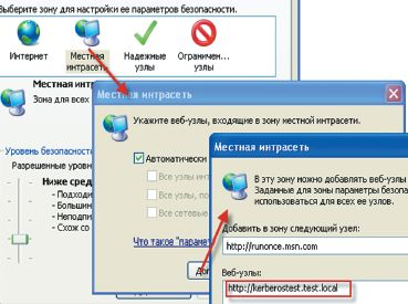 Экран 8. Настройка зон в браузере