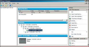 Экран 4. Управление снимками виртуальной системы