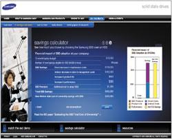 Чтобы помочь ИТ-руководителям принять верное решение, компания Samsung специально разработала калькулятор общей стоимости владения ноутбуками (http://www.samsungssd.com/do_the_math/tco.aspx). Калькулятор рассчитает сумму дополнительных расходов на внедрение твердотельных накопителей для всего парка мобильных компьютеров, связанную сэтим экономию, атакже общую стоимость владения ими