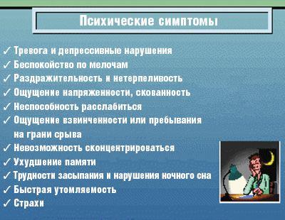 Рис. 2. Клинические проявления тревожных расстройств