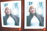 Рис. 4. (a) Изображение соптическим искажением и (b) изображение после применения инструментария «Перспектива» и  фильтра «Исправить искажения оптики»