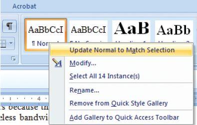 Для настройки шрифта по умолчанию в приложении Word 2007 наберите выбранным шрифтом какой-нибудь текст , выделите его, щелкните правой кнопкой мыши на стиле «Обычный» и настройте его в соответствии со сделанным вами выбором