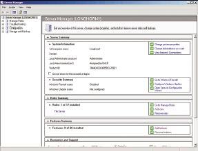 Рисунок 2. Менеджер сервера образует новый центральный интерфейс управления Longhorn.