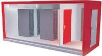 Рисунок 5. Lampertz Outdoor Room позиционируется как мобильный модуль для компьютерного оборудования, устанавливаемого в стойки 19″ и развертываемый как временное решение. В частности, его можно применять во время модернизации или перестройки отдельных зон ЦОД.