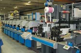 Печатная машина Gallus в офсетной типографии Benson Box
