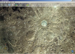 Nasa World Wind: лунные кратеры
