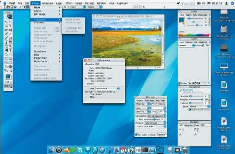 Секретный снимок. Версия Pixel для Mac OS X, в данный момент находящаяся в стадии разработки