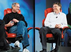 На вопрос, заданный в ходе конференции D: All Things Digital отом, завидуют ли они вчем-то друг другу, Билл Гейтс ответил: «Среди качеств моего визави, вызывающих уменя зависть, ябы выделил потрясающую интуицию как на людей, так ина продукты». Стив Джобс со своей стороны заметил, что ему вместе со Стивом Возняком нужно было бы поучиться уMicrosoft выстраивать отношения спартнерами