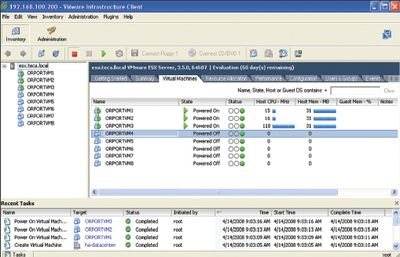 Экран 2. VMware Virtual Infrastructure Client