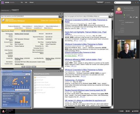"""Рабочее место в Genesis – """"Торговая комната"""" – позволяет свести воедино возможности salesforce.com, Pipeline Analysis, Google News и необходимые для работы файлы и документы"""