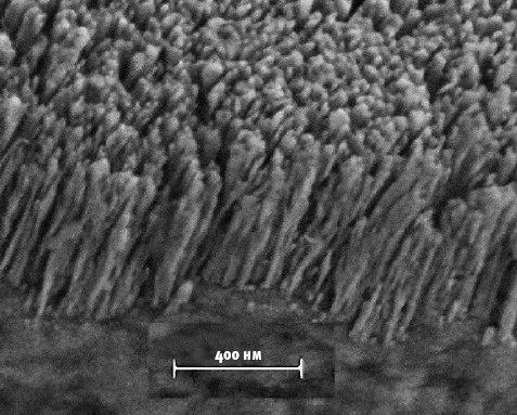 помещая медные наностержни на медных межсоединениях вмикросхеме, можно значительно уменьшить количество образующегося тепла