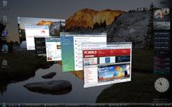 Функция Windows Flip 3D соберет отряд ваших окон в одну трехмерную колонну, и вы сможете пролистать их, как карточки в картотеке
