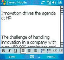 Экран 4 . Чтение документа Word на устройстве Pocket PC