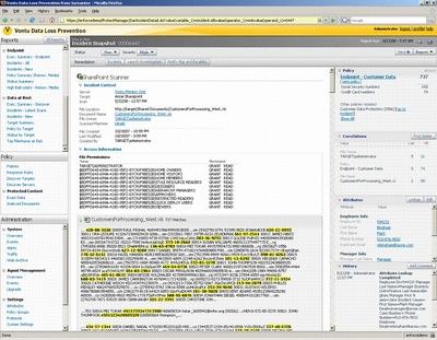 Vontu может обнаружить лишние данные на портале SharePoint и корректно обработать инцидент