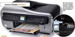Для печати используются шесть картриджей, пять из которых снабжены индикаторами, мигающими, если чернила подходят к концу