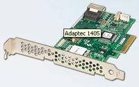 Модель Adaptec 1405 имеет только внутренний разъем, а модель Adaptec 1045 – только внешний