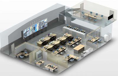 Базовая модель ситуационного центра, разработанная в Русском стиле, изменяется в зависимости от потребностей заказчика...