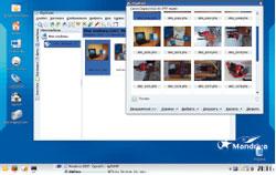 Mandriva 7 умеет размещать на Рабочем столе ярлыки для съемных носителей, а для фотоаппаратов предложит еще и ссылку на фотоальбом