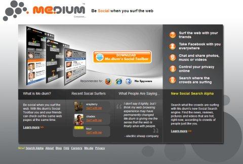 """Один из первых """"клиентов"""" Yahoo – сервис Me.dium позволяет сидящим за разными компьютерами совместно работать в Web"""