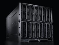 Новые лезвийные серверы Dell монтируются в модульное шасси M1000e, которое вмещает восемь серверов полной высоты