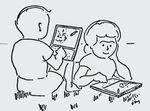 Дети с маленькими компьютерами?— эскиз Кея после встречи с Сеймуром Папертом. (Иллюстрация: IEEE Annals of the History of computing. C разрешения Алана Кея)