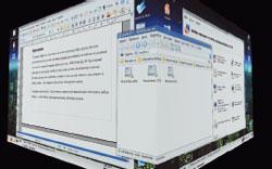 Так вот ты какой, 3D-интерфейс! Просто перетащите окно за границу текущего Рабочего стола, и кубик подставит следующий бок