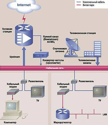 данных через сеть КТВ