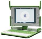 В краткосрочной перспективе вIntel намерены активно поддерживать две разные программы: OLPC (на фото слева) иClassmate (на фото вверху). Чиновникам от образования предстоит определить, какую из машин они будут закупать для школ своих стран