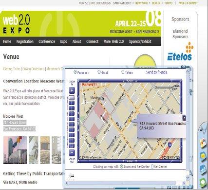 Если впроцессе просмотра Web-страниц вам встретится адрес, который хотелось бы увидеть на карте, выделите его ищелкните мышью на пиктограмме MapQuest