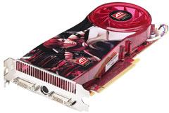 На карте ATI Radeon 3870 X2 установлены два таких же процессора, как и на ее предшественнице, Radeon 3870 (на фотографии), что позволило удвоить ее производительность