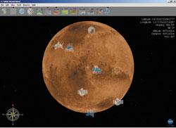 Nasa World Wind: реконструкция поверхности Марса