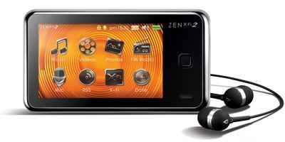 По сравнению с первым поколением Zen X-Fi новый плеер немного больше по габаритам и чуть тяжелее, но при этом обладает расширенной функциональностью