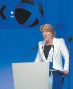 На пресс-конференции в первый день выставки генеральный директор Xerox Энн Малкахи заявила: