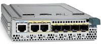 Рисунок 6. Коммутатор Cisco Catalyst Blade Switch 3030 для модульных серверов Dell PowerEdge 1955 имеет десять внутренних портов 1000BaseT для подключения к объединительной панели шасси PowerEdge, четыре внешних порта 10/100/1000 SFP, поддерживающих оптические (SX) и медные интерфейсные модули Cisco, два внешних порта 10/100/1000BaseT и порт консоли. Оснащенный ОС Cisco IOS, коммутатор предлагает полный набор средств безопасности, QoS и высокий уровень отказоустойчивости при доступе к серверам. Он использует системы питания и охлаждения шасси.