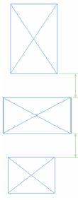 Рис. 6. Совпадение размеров отмечено появлением размерных линий