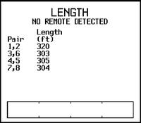 Рисунок 6. Результат измерения длины кабеля, в котором три пары имеют изоляцию из тефлона, а одна — из полимера на основе ПВХ.