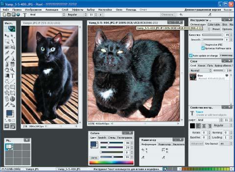 Редактор Pixel не только внешне очень похож на Photoshop. Поддержка CMYK дает ему шанс стать действительно профессиональным графическим редактором