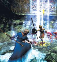 Из главных особенностей геймплея Age of Conan следует отметить активную фазу боя, позволяющую игрокам направлять атаки своих персонажей в наименее защищенные участки тела противника и изменять свою защиту.