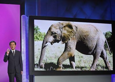 Президент Panasonic AVC Networks Тошихиро Сакамато c гордостью представил самый крупный в мире плоскопанельный экран