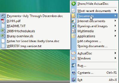 Инструмент ActualDoc, представляющий собой бесплатную и удобную замену встроенному списку «Недавних документов» Windows, позволяет быстро найти файлы, к которым вы недавно обращались