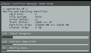 Загрузка системы из Partition Manager