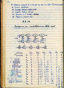 Рис. 1. Страница 46 рабочей тетради С. А. Лебедева