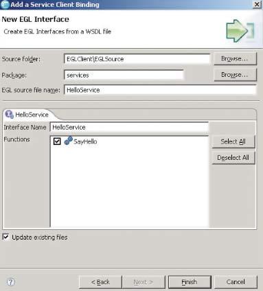 Первая программа на EGL— Web-сервис, выводящий традиционное hello, world