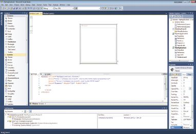 Рис. 1. Экран Visual Studio 2010
