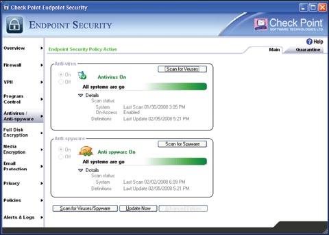 Endpoint Security 7.0 предлагает комплексную защиту компьютеров как от вредоносных кодов, так и от всевозможных сетевых угроз