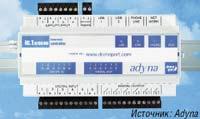 Рисунок 2. Решение от Adyna для дистанционного мониторинга и переключения охлаждающих, климатических и сигнализационных систем: через специальный телемеханический портал domoport.de пользователи могут запрашивать данные, результаты замеров и видеозаписи с контролируемых объектов.