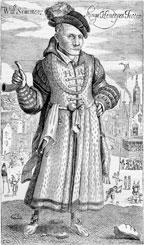 Вильям Соммерс, один из наиболее известных королевских шутов, жил в XVI веке при дворе Генриха VIII